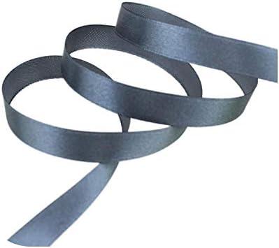 kawayi-桃 (25ヤード/ロール)片面サテンリボンウェビング装飾ギフトクリスマスリボン(6/10/12/15/40 / 50mm)-Dark gray-6mm