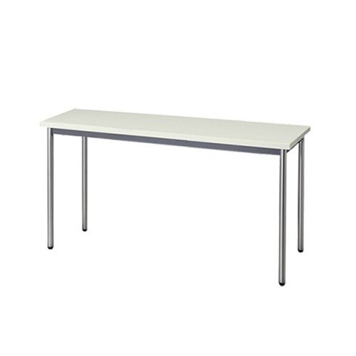 生興 テーブル MTS型会議用テーブル W1500×D450×H700 4本脚タイプ 棚なし MTS-1545OT ニューグレー B015XOJJ2M ニューグレー ニューグレー