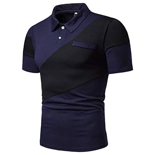 - POQOQ T Shirts Polo Tops Blouse Men's Perfect Cast Polo Shirt, Moisture Wicking Men's Performance Polo Shirt XS Navy