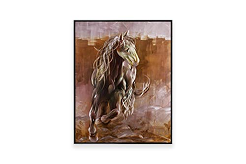 (Luvurwall Metal Wall Art | Brown Horse Framed Art| Modern Design Handcrafted & Made from Aluminum | Perfect Decor for Home or Office | Wall Decor, Sculpture & Accent | 32