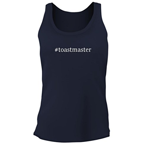 - Tracy Gifts #Toastmaster - Women's Junior Cut Hashtag Adult Tank Top, Navy, Large