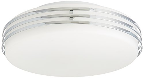 Artcraft Lighting Flushmount 2-Light Small Flush Mount Light, Chrome