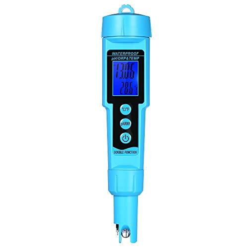 Festnight Professional 3 in 1 pH/ORP/Temp Meter Water Detector Multi-Parameter Digital LCD Tri-Meter Multi-Function Water Quality Monitor Multi-Parameter Water Quality Tester ()