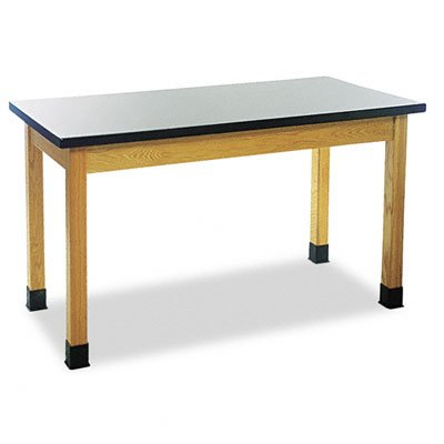 Diversified Woodcrafts P7601K30N - 24''x60'' - 30'' High, Plain Apron Laboratory Table, Red Oak Legs & Apron, Plastic Laminate Top, Made in USA by Diversified Woodcrafts