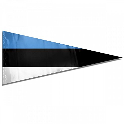 Flag Of Estonia Premium Pennant Indoor/Outdoor Banner Flags House Garden Flag Triangle Flag 12x30 Inches