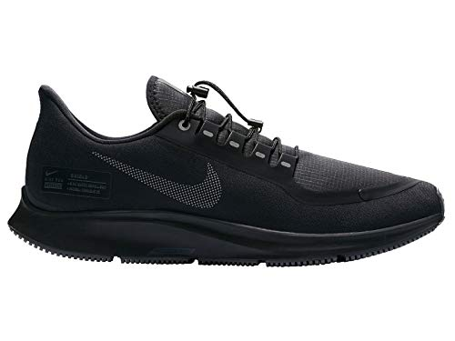 Nike Men's Pegasus 35 Shield Black/Anthracite/Dark Grey Mesh Running Shoes 9.5 M US