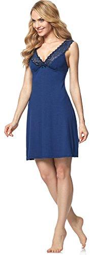 Italian Fashion IF Camisón para mujer Madam 0112 Azul Oscuro