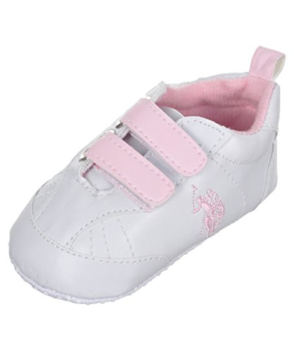 baby-girls-dual-strap-faux-leather-sneaker-booties-white-6-9-months