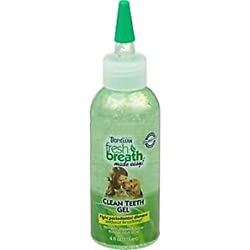Fresh Breath Clean Teeth Gel 4 oz TROPICLEAN Dog Canine Cats Bad Breath