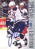 (David Oliver Edmonton Oilers 1996 Upper Deck Special Edition Autographed Card. This item comes with a certificate of authenticity from Autograph-Sports. Autographed)