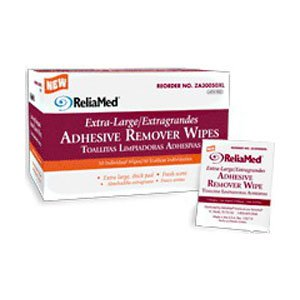 ZA30050XL - ReliaMed Extra-Large Adhesive Remover Wipe 4 x 4-3/4
