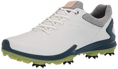 ECCO Men's Biom G3 Gore-TEX Golf Shoe Shadow White/Dark Petrol Yak Leather 39 M EU (5-5.5 US)