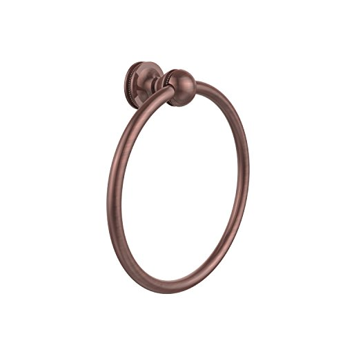 Allied Brass MA-16-CA Mambo Collection Towel Ring Antique Copper Allied Copper Towel Ring