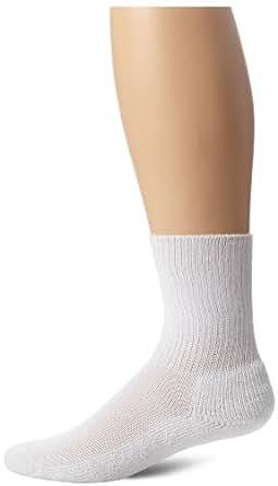 Thorlo Unisex Moderate Cushion Therapeutic Crew Sock, White, Medium