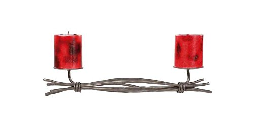 Stone County Ironworks Rush Renaissance Double Candleholder, Rust 205798-OG-142828-O-759629, O
