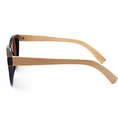 Protección de conducción Lente de de gato Gafas Ojos bambú de los de de Gafas UV calidad de calidad hombres alta sol polarizada TAC de p Retro mano la de hechos marrón color de a Gafas sol sol alta de g8R5qwC
