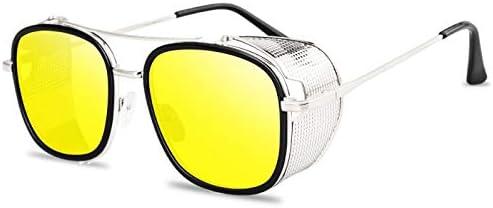 ZJIEJ Lunettes de Soleil Steampunk Sunglasses Metal Women Men Vintage Steam Punk Sun Glasses Uv400 Sunglass Shades