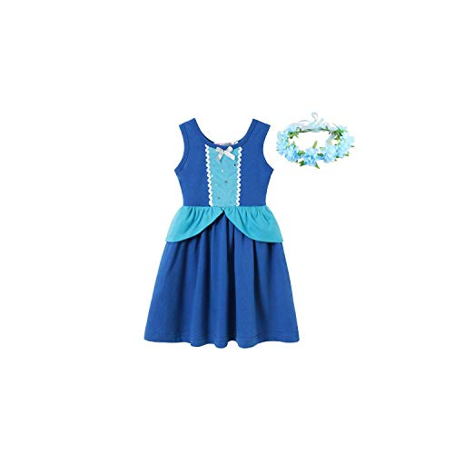 Girl Costume Cinderella Dress for Vintage Swing Cotton Sundress Girl Retro Princess Fancy,Dress L Set 1,7]()