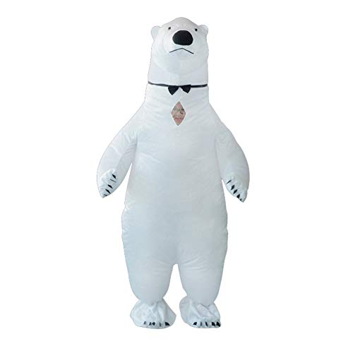 Inflatable Blow up Polar Bear Full Body Suit Jumpsuit Costume for $<!--$45.99-->