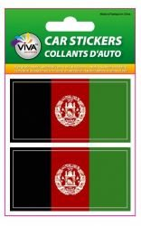 2 Afghanistan Country Flag Set of Small Automobile Bumper Stickers Decals ... 1 3/8 X 2 3/4 Inches ... New in (Afghanistan Country Flag)