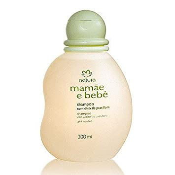 Linha Mamae Bebe Natura - Shampoo Suave Com Oleo de Passiflora (Flor de Maracuja)