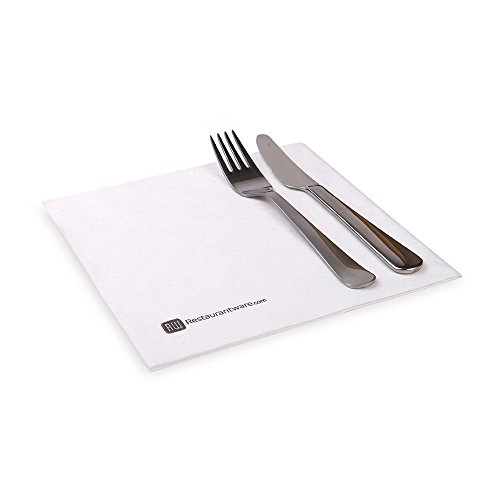 Luxenap 15.75 Inch Decorative Napkins, 600 Soft Cloth Like Dinner Napkins – Absorbant, Linen Feel, Pure White Paper…