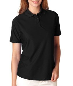 UltraClub Ladies' Cool & Dry Elite Performance Polo, Black, 2XL