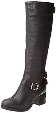 FRYE Women's Vera Back-Zip Tall Boot, Black, 5.5 M US