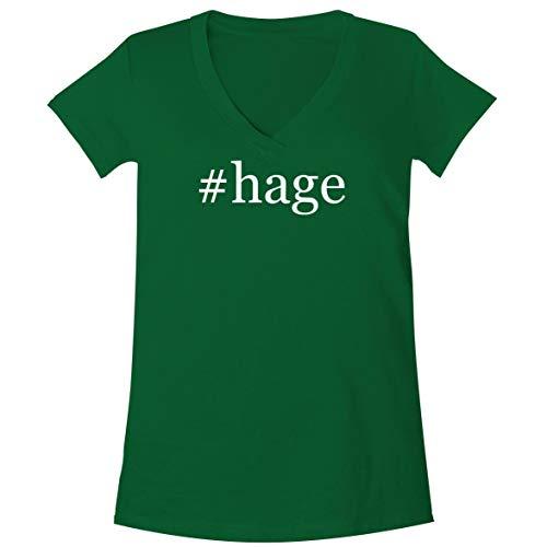 The Town Butler #Hage - A Soft & Comfortable Women's V-Neck T-Shirt, Green, Medium