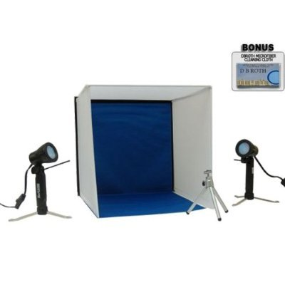Portable Lighting Studio Ideal For Jewlery, Electronics, Collectables And More For The Olympus E-520, E-510, E-500, E-30, E-3, E-330, E-300, E-1, C-8080, C-7070, C-5060 Digital Cameras