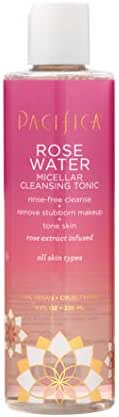 Pacifica Beauty Rose Water Micellar Cleansing Tonic, 8 Ounce