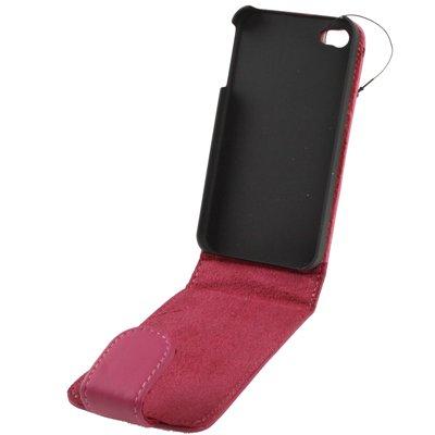 "Original THESMARTGUARD iPhone 4S / 4 Kunstlederhülle im ""Pain-Style"" - rosa"