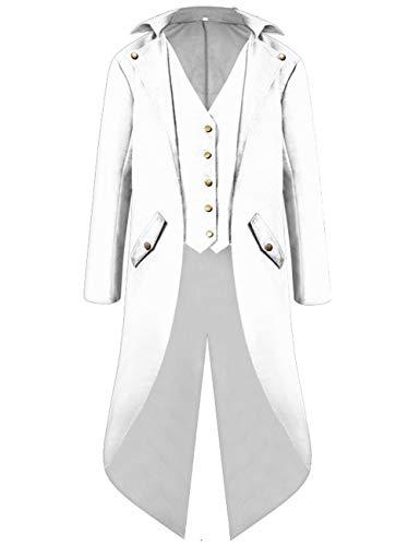 KAMA BRIDAL Men's Gothic Tailcoat Jacket Costume Steampunk