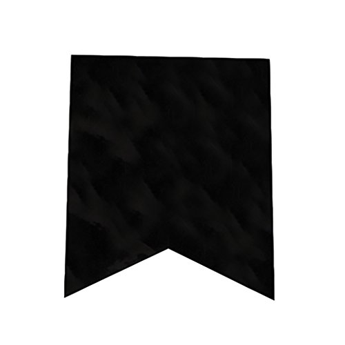 Darice Fishtail Design Canvas Banner Flags in Black -