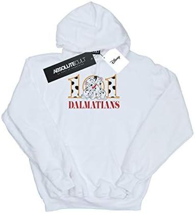 Disney Herren 101 Dalmatians Puppy Hug Kapuzenpullover Weiß Small
