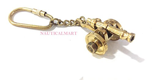 Nauticalmart Brass Miniature Ship Cannon Keychain Keyring Nautical Gift