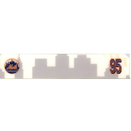 (#95 Mets Spring Training Game Issued Locker Room Nameplate Circa 2005-2008 )