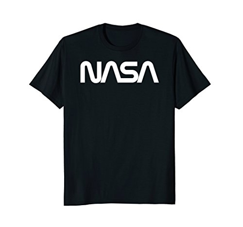 - Mens NASA Worm Logo White No Distress Medium Black