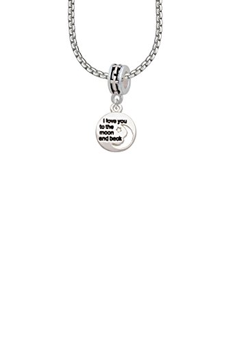 Small I Love You to the Moon Cross Bead ()
