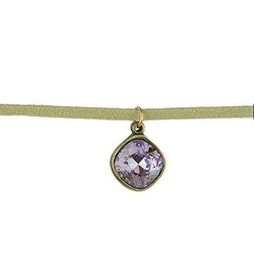 Anne Koplik Cushion Cut Violet Swarovski Crystal Choker ()