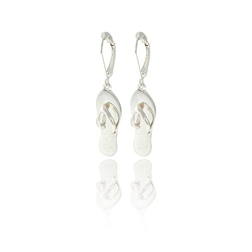 Silver Flip-flop Leverback Earrings [Island Style]