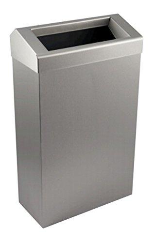 enov ahj206-bs Edelstahl Papierkorb mit chuted Deckel, gebü rstet, 50 l Fassungsvermö gen, 700 mm H x 310 mm W x 308 mm D