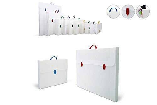 Infantasia PP Design Tasche Roma bianco 520x735x50mm für DIN A2 Präsentationsmappe Zeichenkoffer weiss