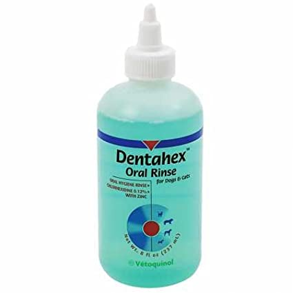 Vetoquinol 411425 Dentahex Oral Hygiene Rinse, 8 oz Vétoquinol USA