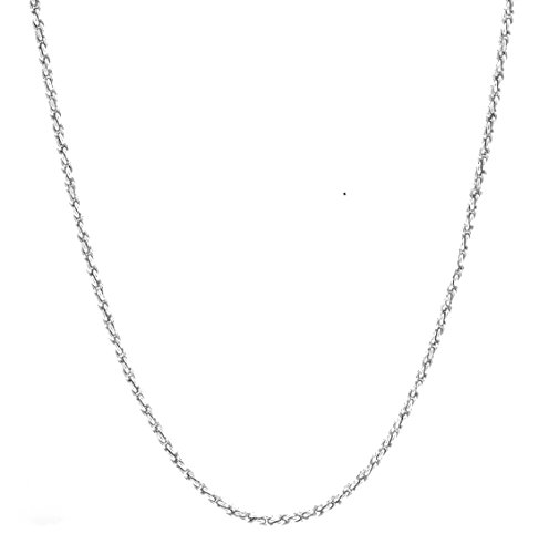 - Gold Chain Necklace 3MM Diamond Cut 18Kt White Gold Rope Chain With A Warranty Of A Lifetime USA Made! (22)