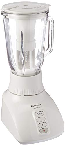 Panasonic MX-GX1581W Glass Jar 4-in-1 Blender With Dry Mill Grinder, 220V (Not for USA - European Cord), White