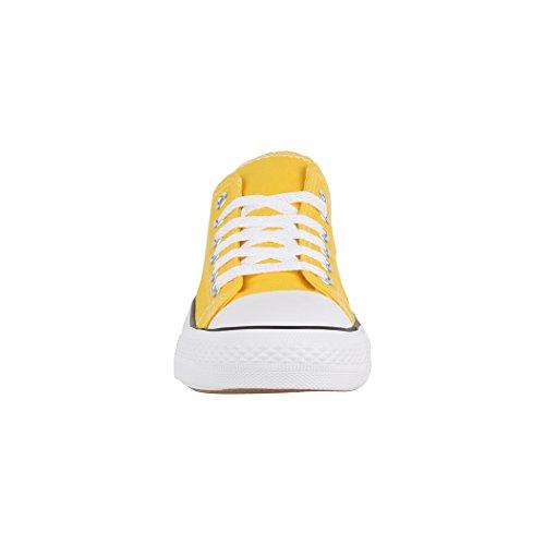 Nummer Fällt Basic Sneaker Größer Donna Aus Elara Yellow Eine vwHqY1px