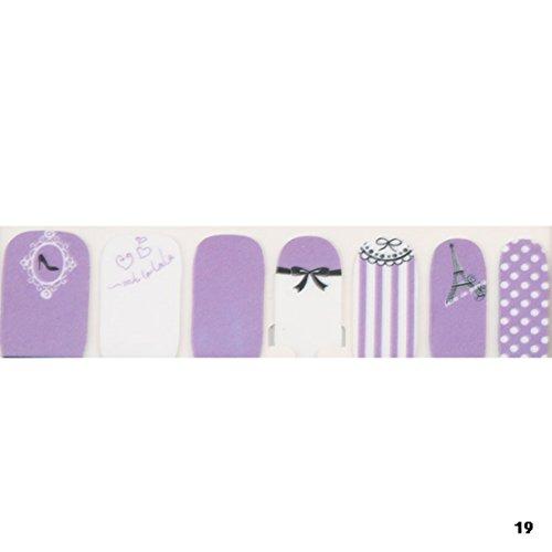 1-Pcs Great Popular Fashion Nail Art Stickers Self Adhesive Pedicure Decor Floral Wraps Color Type NO#19