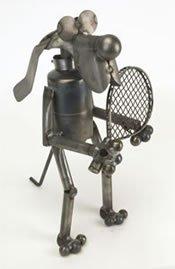 Tubby Junkyard Cat Metal Sculpture by YardBirds