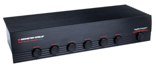 Monster Speaker Switch, 6 Pairs of Speakers, Black